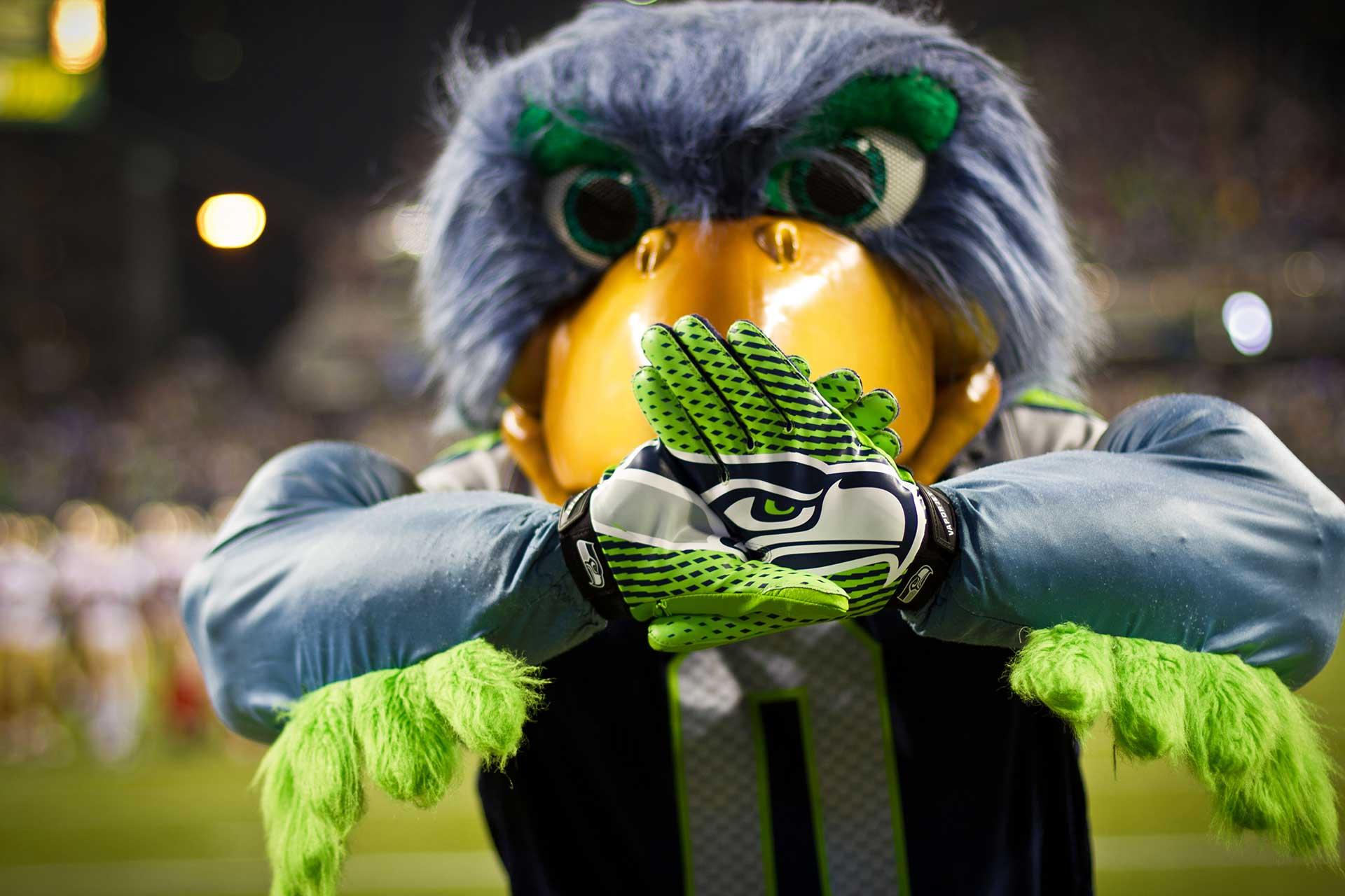 Blitz Seahawks Mascot
