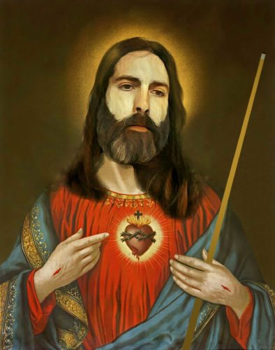 Jesus with Pool Cue