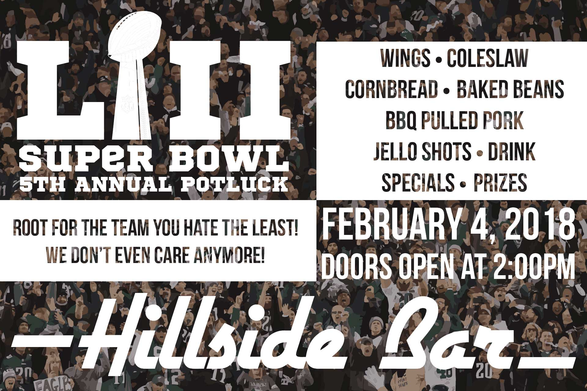 Hillside Superbowl Potluck