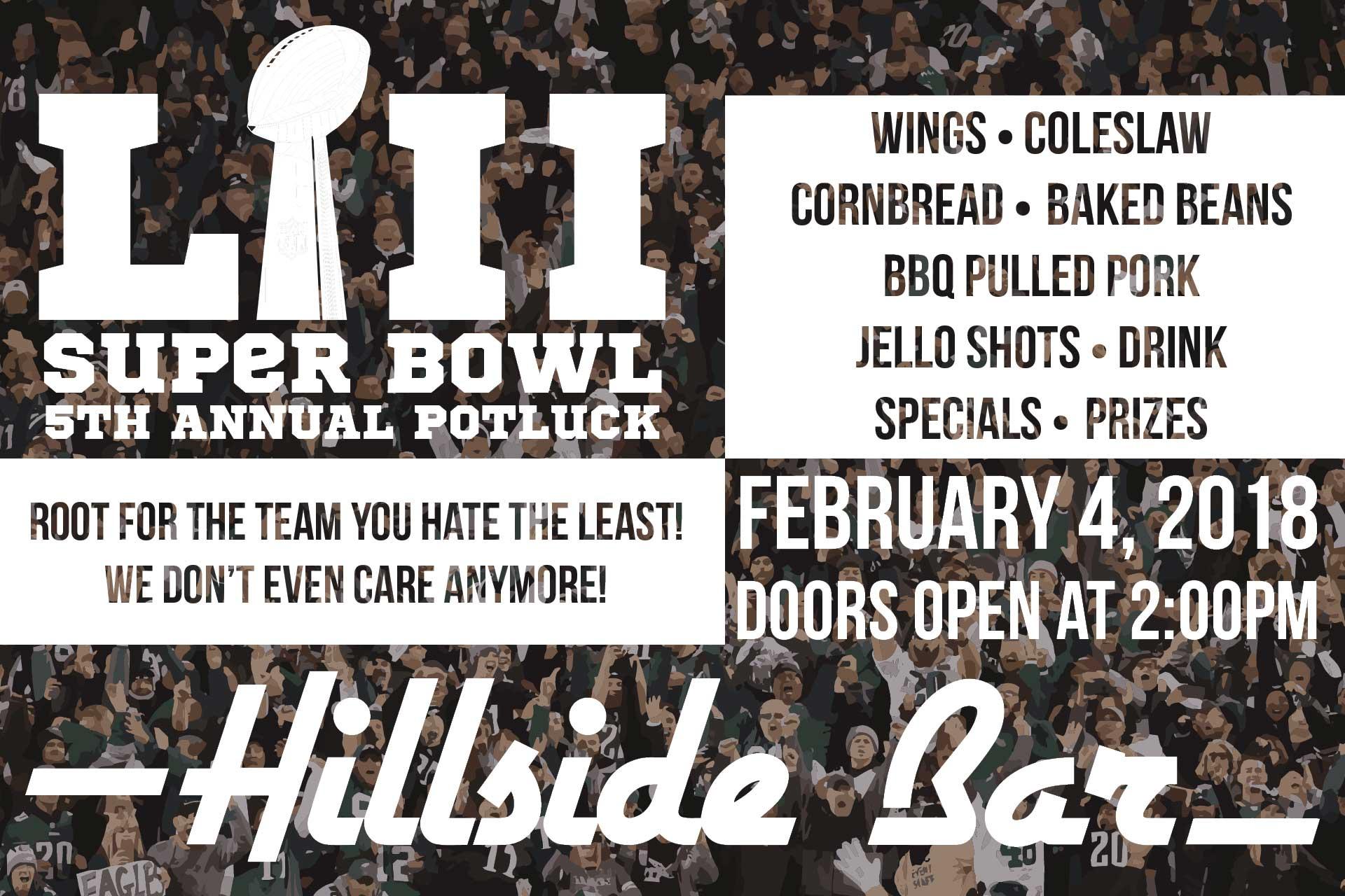 Hillside Superbowl Potluck
