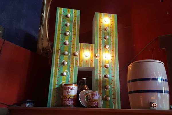 Hillside H Lamp