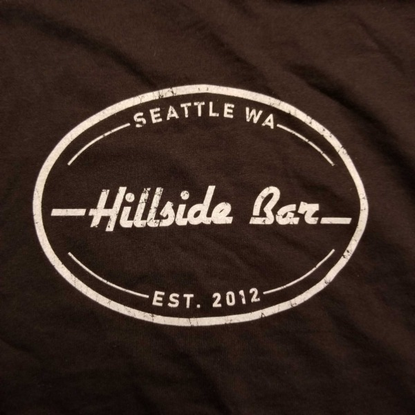 Hillside Mens Logo Tee Black Front