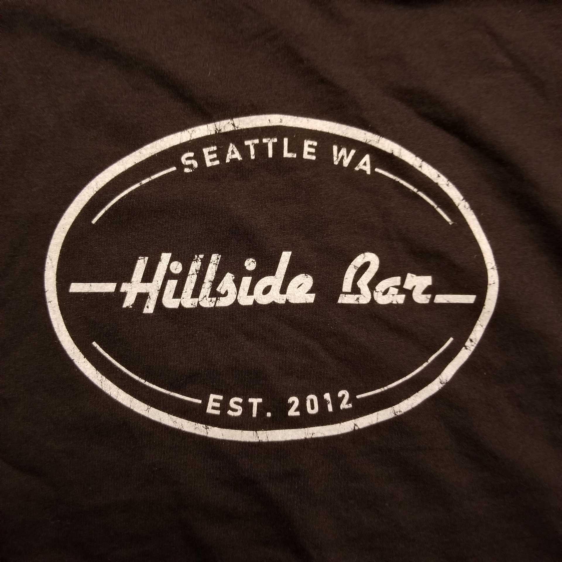 Hillside Mens Logo Tee Black Front