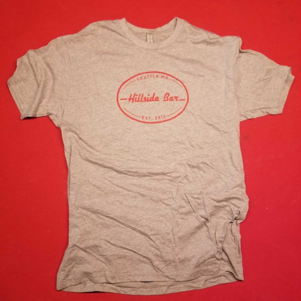 Hillside Mens Logo Tee Gray