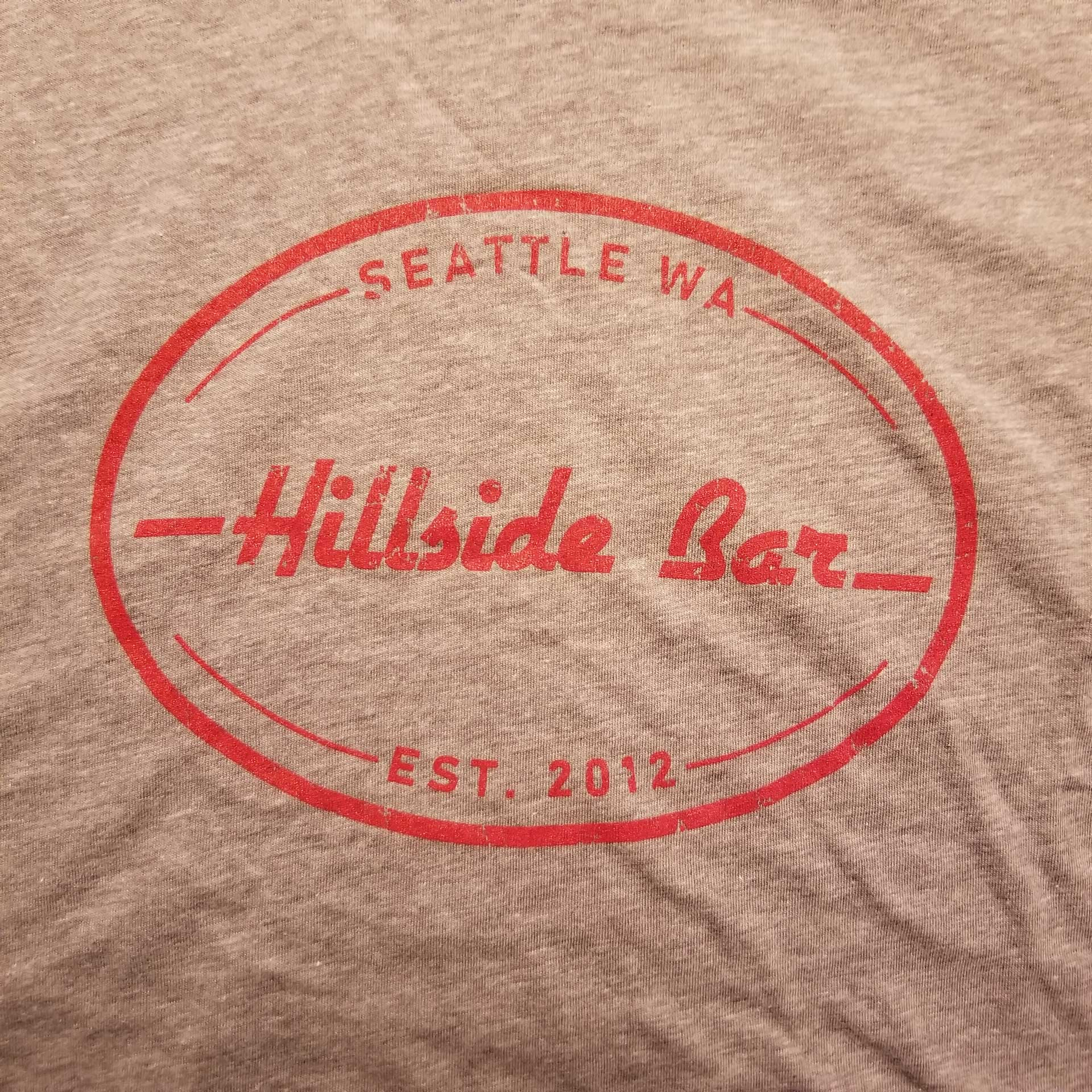 Hillside Mens Logo Tee Gray Front