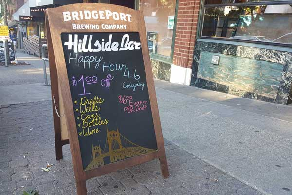 Hillside Sandwich Board