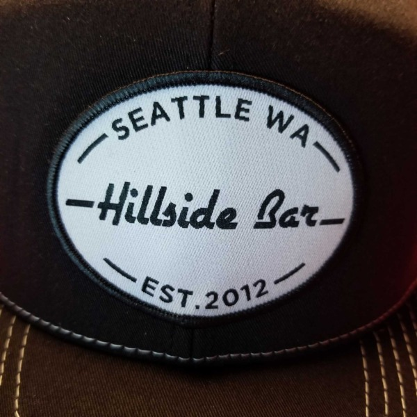 Hillside Trucker Hat Black Front