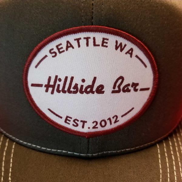 Hillside Trucker Hat Gray Front