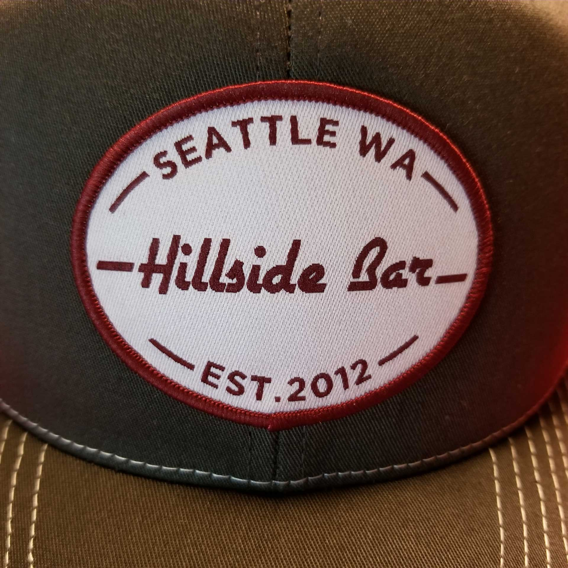 Hillside Trucker Hat Gray Front
