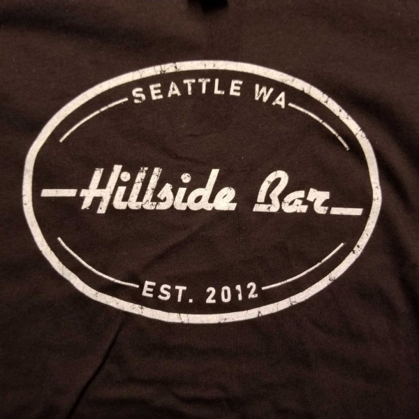 Hillside Womens Logo Tee Black Front