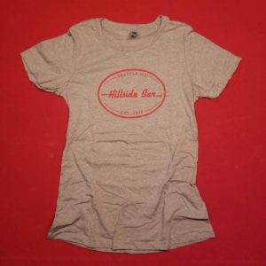 Hillside Womens Logo Tee Gray