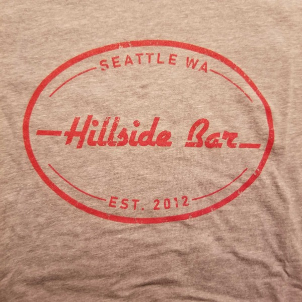 Hillside Womens Logo Tee Gray Front
