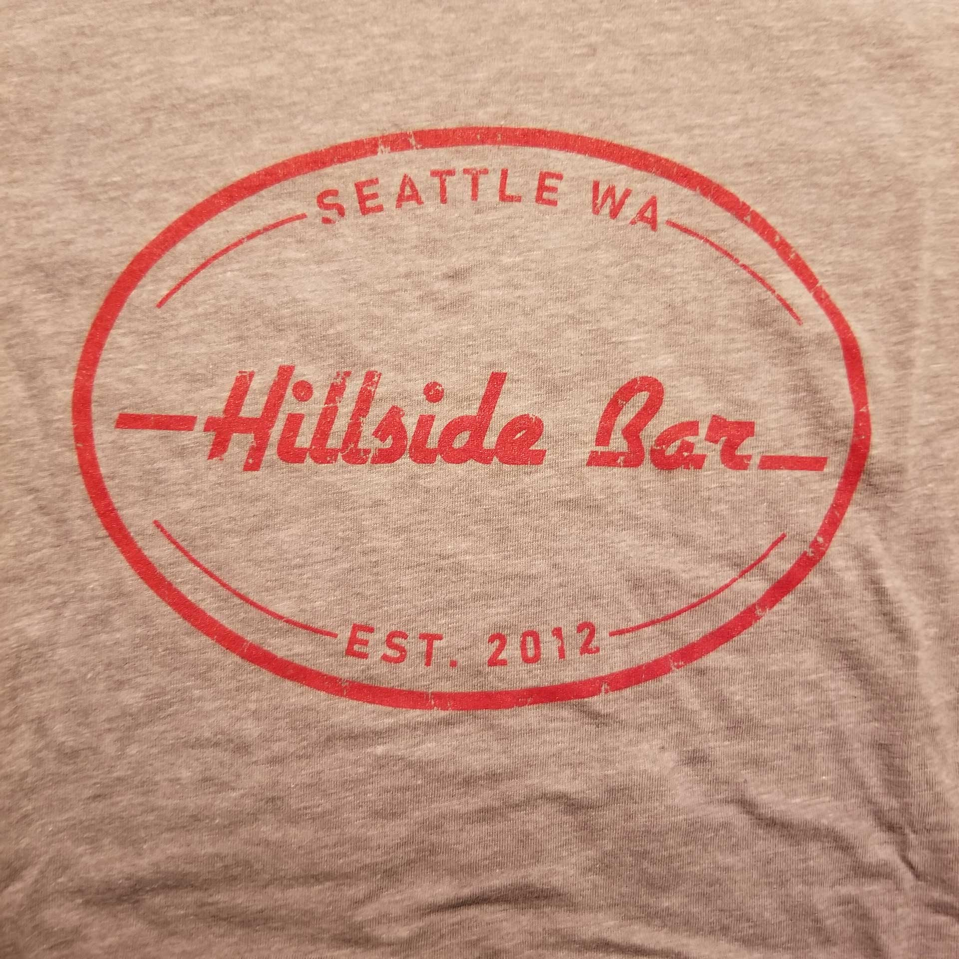 Hillside Womens Logo Tee Gray Front
