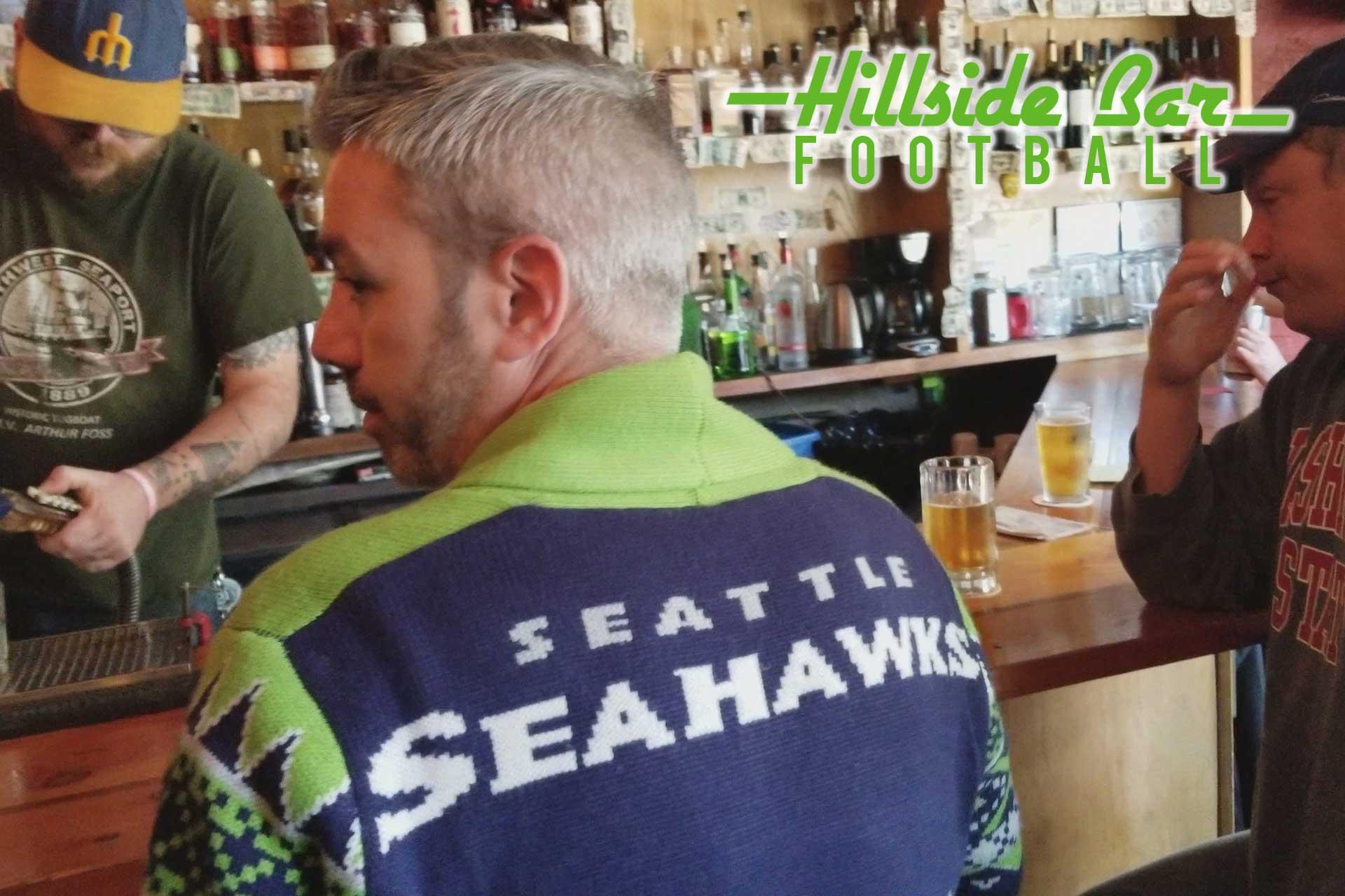 Watch the Seahawks at Hillside Bar!